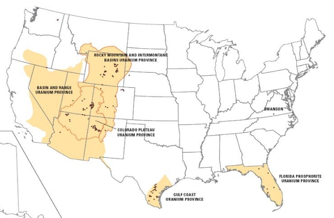 Medical Geology Issues In North America - Iron mines in us sw panhandle maps
