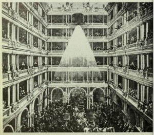 1879 SF Palace Hotel Arc Lighting - Cal Historical Society